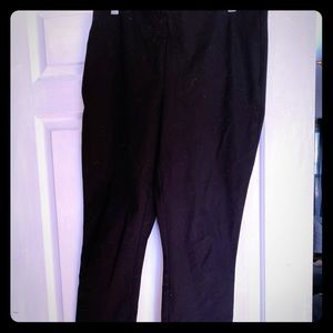 CABI black straight leg slacks